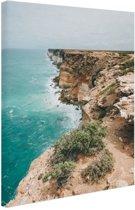 FotoCadeau.nl - Nullabor kliffen Australie Canvas 60x80 cm - Foto print op Canvas schilderij (Wanddecoratie)