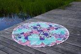 Bohemida Roundie - XL Boho Jungle Pink - Strandlaken - 100 % Duurzaam Katoen