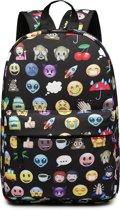 Popelli Rugzak - Schooltas - Kinderrugzak - Emoji - A4 formaat - Lichtgewicht (E1835 EM-BK)