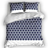 Romanette Penta - Dekbedovertrek - Tweepersoons - 200x200/220 cm + 2 kussenslopen 60x70 cm - Blauw