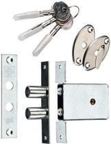 Dx Bijzetslot - Gelijksluitend Skg - 2 stuks - 4 sleutels