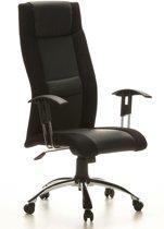 hjh office Airon -  Bureaustoel - Leder - Zwart / grijs