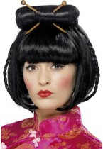 Japanse Geisha pruik  | Zwart haar