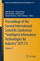 Proceedings of the Second International Scientific Conference Intelligent Information Technologies for Industry (IITI'17)