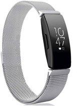 YONO Milanees Bandje Zilver voor Fitbit Inspire HR – Vervangende RVS Armband met Magneetsluiting – Small