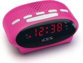 Ices Icr-210 - Wekkerradio - Roze