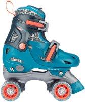 Nijdam Junior Rolschaatsen Verstelbaar Blauw Maat 30-33