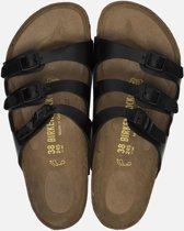 Birkenstock Florida slippers zwart  - Maat 37