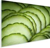 Vers gesneden komkommer Plexiglas 80x60 cm - Foto print op Glas (Plexiglas wanddecoratie)
