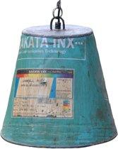 Duurzame industriële hanglamp gerecycled uit India