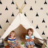 Muursticker figuren set tipi's | babykamer - kinderkamer - speelkamer | hip - modern