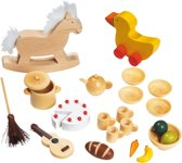 Goki Houten poppenhuis accessoires 23 delig