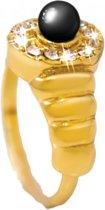 Luigi Vicaro Ring Hematiet One-size - Goudkleurig