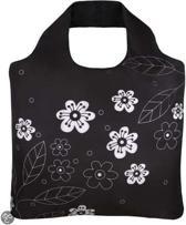 Herbruikbare opvouwbare trendy tas Black and White 2
