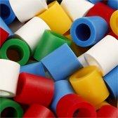 Strijkkralen, afm 10x10 mm, Standard-Farben, jumbo, 3200 assorti