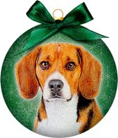 Ornament frosted beagle