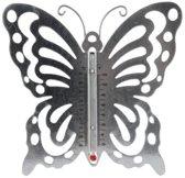 thermometer  metaal , vlinder 20 cm