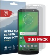 Rosso Motorola Moto G6 Plus Ultra Clear Screen Protector Duo Pack