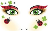 Gezicht stickers lieveheersbeestje 1 vel - Gezicht tatoeage lieveheersbeestje 1 vel