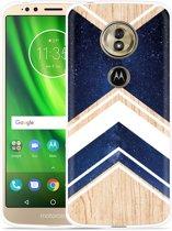 Moto G6 Play hoesje Space wood