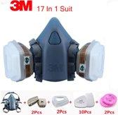 17 in 1 suite 3M 7502 Halfgelaatsmasker Gasmasker veiligheid masker een COMPLEET systeem