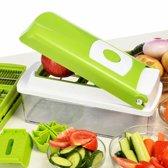 Multifunctionele shredder chopper fruit groente salade rasp (groen)