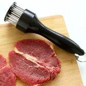 Vleesvermalser - Recette Parfaite - Zwart -  Maak uw vlees heerlijk mals - Steak - Meat Tenderizer - Hand Prikker vlees - Vlees hamer - Gratis Verzending