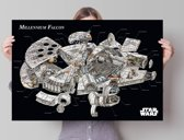Reinders Star Wars - Millennium Falcon cross-section - Poster - 91,5 × 61 cm