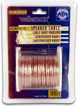 Velleman K/LOW2150/15T audio kabel 15 m Transparant