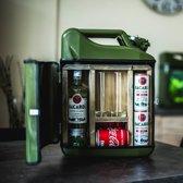 MikaMax - Jerrycan Bar 20L - Sterke Drank - Groen - Metaal - Cadeau