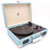GPO SOHOBLU - Platenspeler met ingebouwde speakers - Blauw