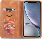 Apple iPhone XR Retro Portemonnee Hoesje Bruin