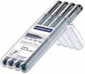 Staedtler fineliner Pigment Liner opstelbare box met 4 stuks (01 - 03 - 05 en 07 mm)
