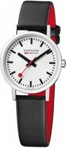 Mondaine Classic A658.30323.16SBB Horloge - Leer - Zwart - Ø30 mm