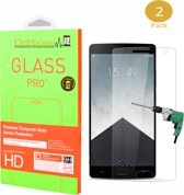 DrPhone 2 x Oneplus 2 Glas - Glazen Screen protector - Tempered Glass 2.5D 9H (0.26mm)