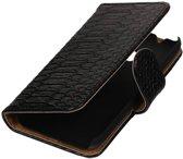Samsung Galaxy J1 mini (2016) J105F Zwart | Snake bookstyle / book case/ wallet case Hoes  | WN™