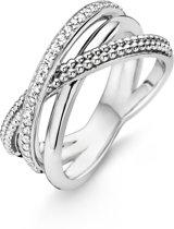 Ti Sento Milano 12022ZI Ring - Ring met stenen - Zilver witgoudverguld