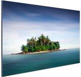FotoCadeau.nl - Bosrijk eiland foto Aluminium 30x20 cm - Foto print op Aluminium (metaal wanddecoratie)