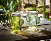 Cactussen met led-verlichting  2 stuks