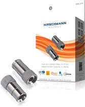 Hirschmann POFC070/S - Push-on F-connector - Zilver
