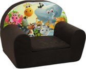 Luxe kinderstoel - kinderfauteuil - sofa - 60 x 45 - bruin - Madagaskar