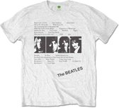The Beatles - White Album Tracks heren unisex T-shirt met rug print wit - XXL