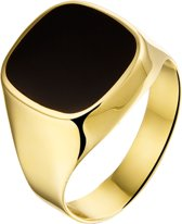 The Jewelry Collection For Men Zegelring Onyx - Goud