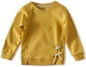 Little Label - meisjes sweater - yellow w. gold
