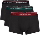 Tommy Hilfiger - Heren 3-Pack Low Rise Trunk Boxershorts Zwart Rood Groen - XXL