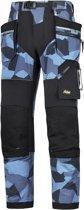 Snickers FlexiWork broek met holsterzak navy camo zwart maat M taille 50 W34