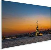 Adembenemende zonsondergang boven Istanbul Plexiglas 180x120 cm - Foto print op Glas (Plexiglas wanddecoratie) XXL / Groot formaat!