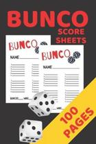 Bunco Score Sheets: Bunco Score Cards, Bunco Party Supplies, 100 Pages Score Keeper Notebook, Perfect Gift For All Bunco Lovers