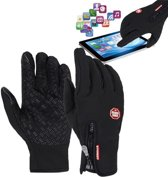 Fietshandschoenen Winter Met Touch Tip Gloves - Touchscreen Ski Handschoenen Fiets - Dames / Heren M