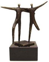 Bronzen beeldje - sculptuur - figuur - een prettige samenwerking